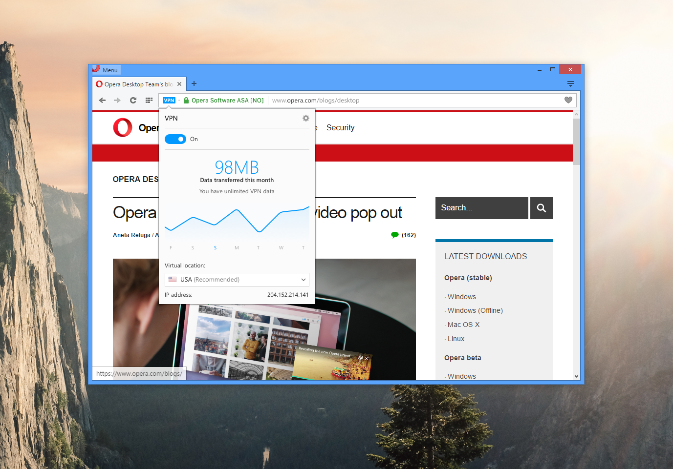 Free vpn now built into opera browser ccuart Images