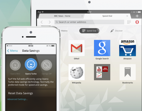 Opera Mini for iPhone and iPad gets a makeover