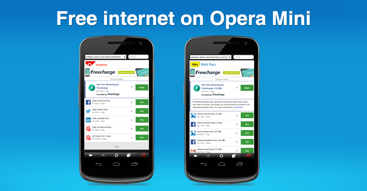 How to get free internet with Opera Mini