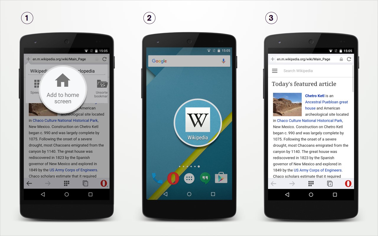 Add your favorite sites to your Android home screen with ...