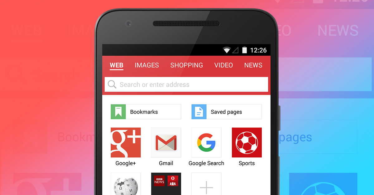 Image and video search gets easier in opera mini for android opera mini android search google new address bar ccuart Choice Image