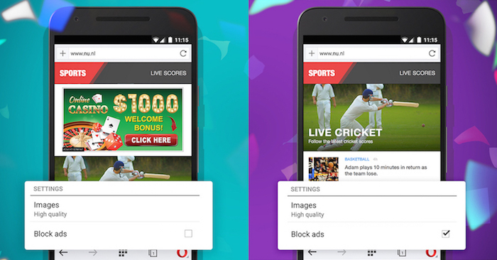 opera mini software  for android phone